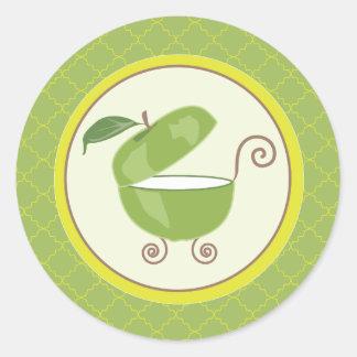 De de groene Envelop van het Vervoer van het Baby Ronde Stickers