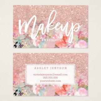 De de kunstenaarstypografie van de make-up nam visitekaartjes