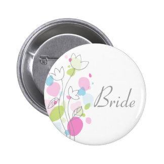 De de moderne van het de bruidhuwelijk van Confett Speldbutton