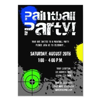 De de partijuitnodigingen van Paintball | Douane 12,7x17,8 Uitnodiging Kaart