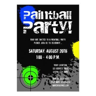 De de partijuitnodigingen van Paintball Douane n