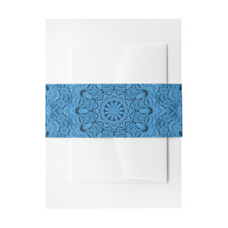 De decoratieve Blauwe Vintage Band van de Buik van Uitnodigingen Wikkel