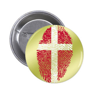 De Deense vlag van de aanrakingsvingerafdruk Ronde Button 5,7 Cm