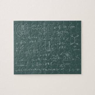 De diagrammen en de formules van de fysica legpuzzel