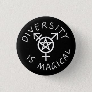 De diversiteit is Magische Knoop Ronde Button 3,2 Cm