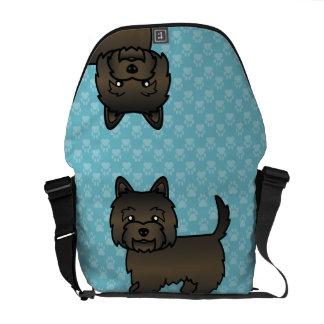 De donkere Getijgerde Hond van de Cartoon van Messenger Bag