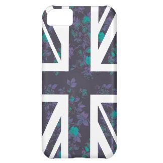 De donkere Wijnoogst de Britse (het UK) Vlag nam iPhone 5C Hoesje