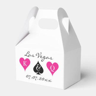 De doos van de het huwelijksgunst van Las Vegas Bedankdoosjes