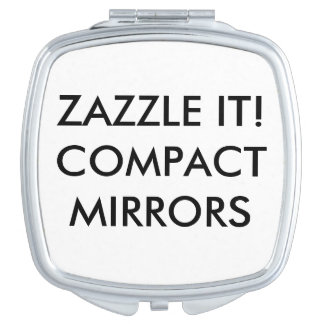 De douane personaliseerde de Compacte Lege Make-up Spiegeltje