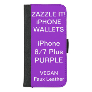 De douane personaliseerde PAARSE iPhone 8/7 plus iPhone 8/7 Plus Portemonnee Hoesje
