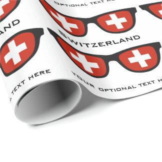 De douanetekst van de Schaduwen van Zwitserland & Inpakpapier