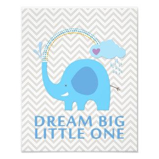 De Droom van de olifant Grote Kleine het Art. van Foto Afdruk