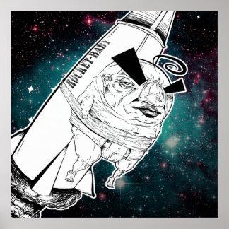 De druk van het Baby van de raket Poster