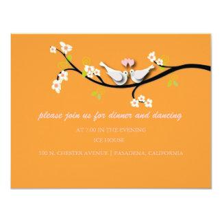 De duiven van PixDezines/liefdevogels/diy kleur 10,8x13,9 Uitnodiging Kaart