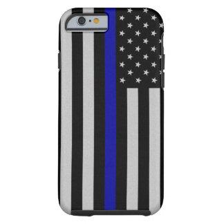 De dunne Vlag van Blue Line Tough iPhone 6 Hoesje