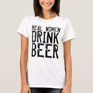 De echte Vrouwen drink Bier T Shirt