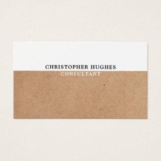 De eenvoudige Elegante GEDRUKTE Witte Adviseur van Visitekaartjes