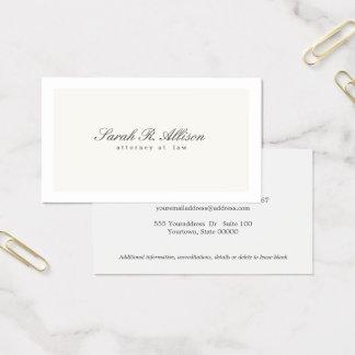 De eenvoudige Elegante Professionele Room van de Visitekaartjes