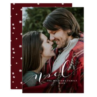 De eenvoudige Kaarten van de Foto van Kerstmis 12,7x17,8 Uitnodiging Kaart