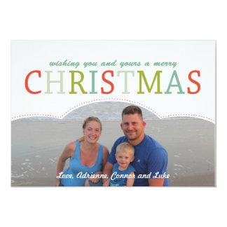 De eenvoudige kleuren van de Kerstkaart mod. van 12,7x17,8 Uitnodiging Kaart