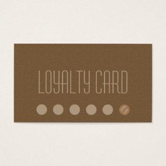 De eenvoudige Ponskaart van de Loyaliteit Visitekaartjes