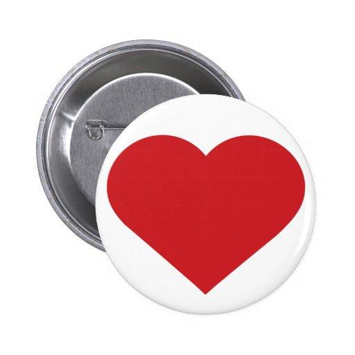 De eenvoudige Rode Moderne Tijdgenoot van het Hart Speld Buttons