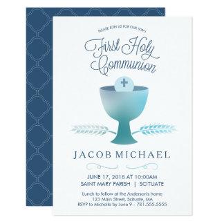 De eerste Uitnodiging van de Heilige Communie - de
