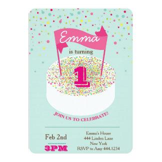 De eerste Uitnodiging van de Verjaardag