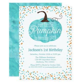 De Eerste Verjaardag van de Jongen van de 12,7x17,8 Uitnodiging Kaart