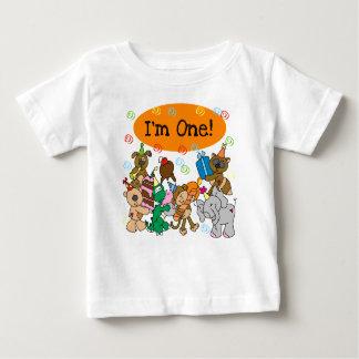 De Eerste Verjaardag van dieren Baby T Shirts