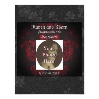 De eeuwige Reeks van Handfasting/van het Huwelijk 10,8x13,9 Uitnodiging Kaart