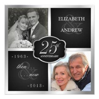 De elegante 25ste Vernieuwing van de Gelofte van d Gepersonaliseerde Uitnodiging