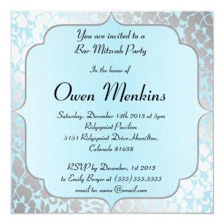 De elegante Metaal Blauwe Uitnodiging van de Bar