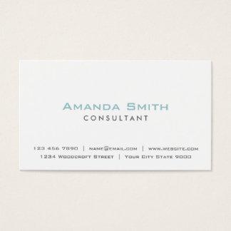 De elegante Professionele Duidelijke Witte Visitekaartjes