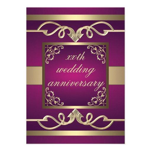 De elegante Roze het huwelijksverjaardag van de Du Custom Uitnodging