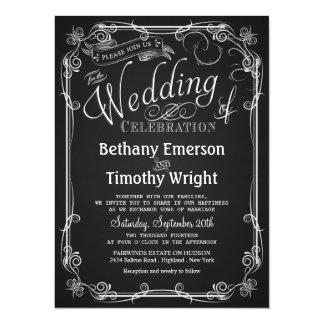 De elegante Uitnodiging van het Huwelijk van het
