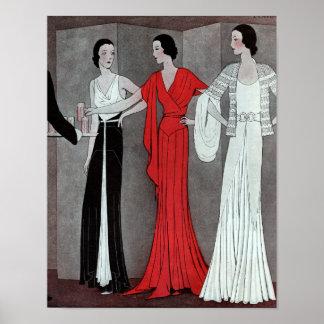 De elegante Vintage Retro Partij van het Art deco Poster