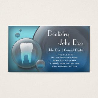 De elegante witte tanden borrelen visitekaartjes