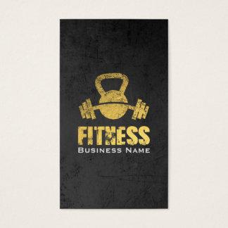 De elegante Zwarte Gouden Trainer Kettlebell Visitekaartjes