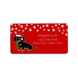 De Etiketten van de Kerstman van de zwarte en Tan Addressticker