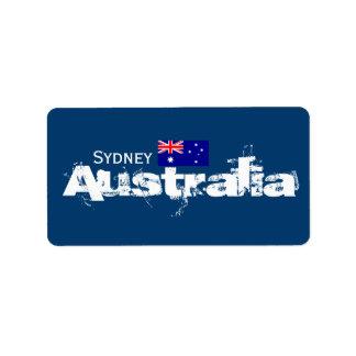 De Etiketten van Sydney, Australië Addressticker