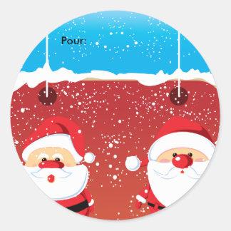 De Etiquette van Noël de Kerstman Autocollants van Ronde Sticker