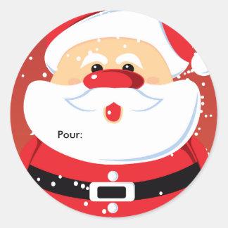 De Etiquettes cadeaux Autocollants van Noël van Ronde Sticker