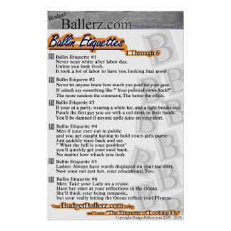 De Etiquettes van Ballin Poster