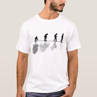 De evolutie van het mensdom en milieu t shirt