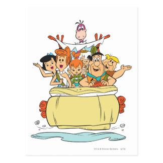 De Familie Roadtrip van Flintstones Briefkaart