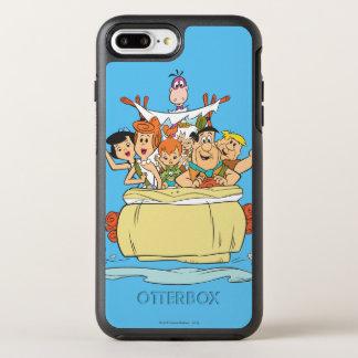 De Familie Roadtrip van Flintstones OtterBox Symmetry iPhone 8 Plus / 7 Plus Hoesje