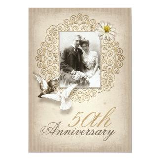 de fancy uitnodiging van de huwelijksverjaardag