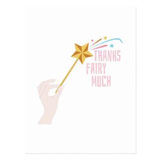 De Fee van het bedankt veel Briefkaart