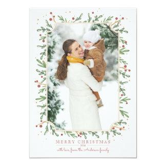 De feestelijke Kaart van de Foto van Kerstmis van 12,7x17,8 Uitnodiging Kaart